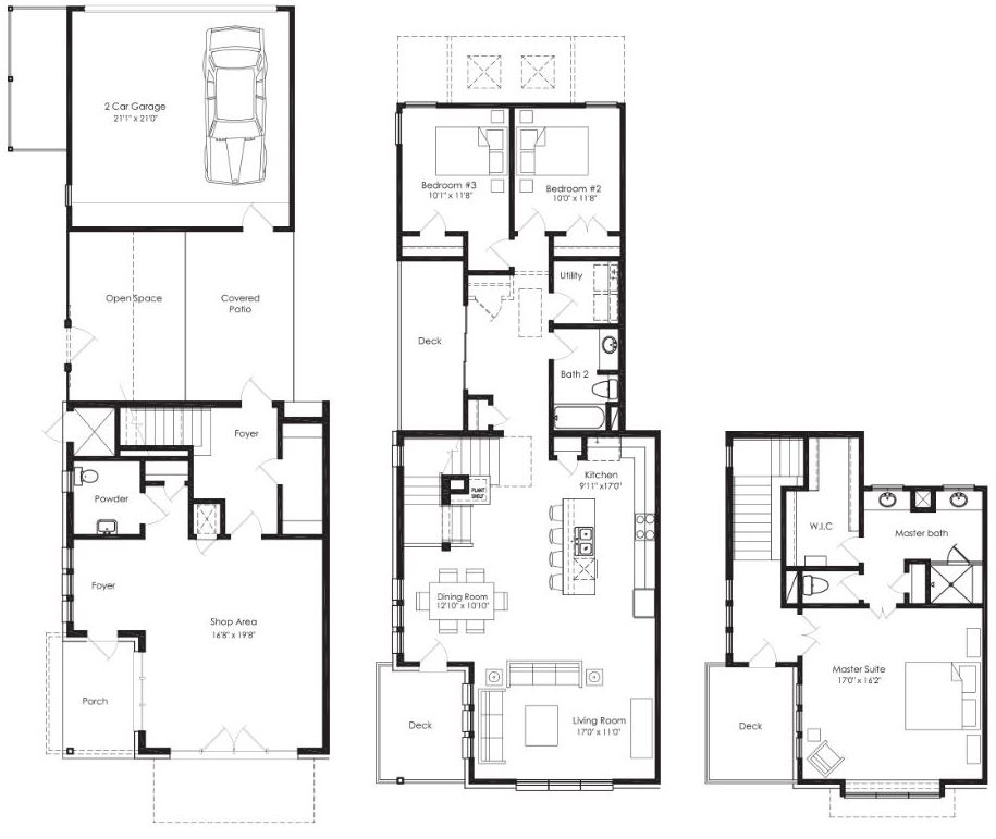The shop house mueller mueller austin texas for Shop floor plans